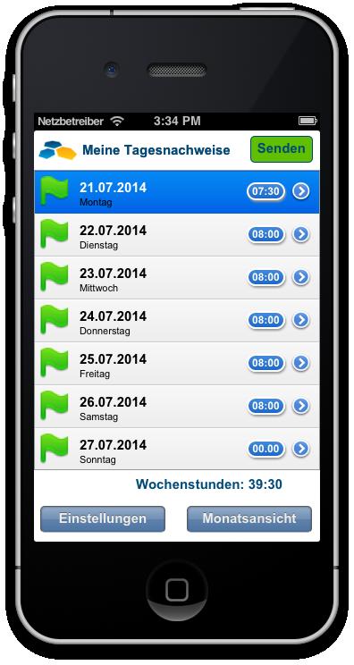 Chronos Mobile Neue Mobile Version 214 Der Chronos Zeiterfassung